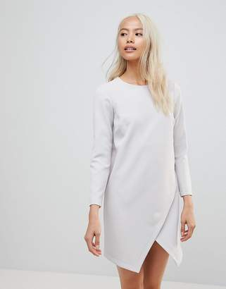 Asos Design Asymmetric Clean Shift Mini Dress