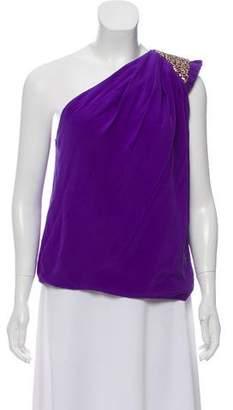 Robert Rodriguez One-Shoulder Embellished Top