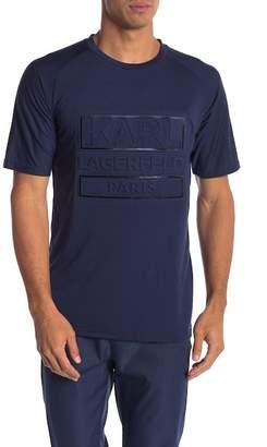 Karl Lagerfeld Embossed Logo Short Sleeve Tee