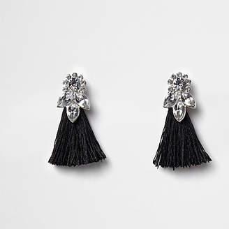 River Island Girls black jewel tassel drop earrings