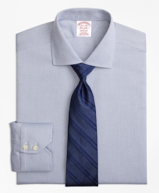 Brooks Brothers Madison Classic-Fit Dress Shirt, Non-Iron Textured Solid