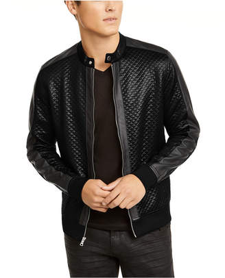 INC International Concepts Inc Men Quilted Knit Vacation Jacket