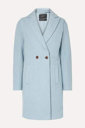 J.Crew Daphne Wool-felt Coat - Light blue