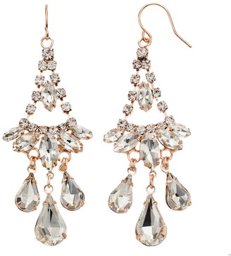 Simulated Crystal Nickel Free Chandelier Earrings
