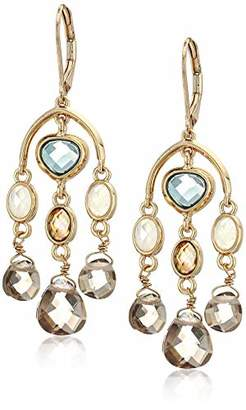 Anne Klein Women's Gold Tone Stone Chandelier Drop Earrings
