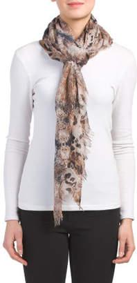 Watercolor Leopard Scarf