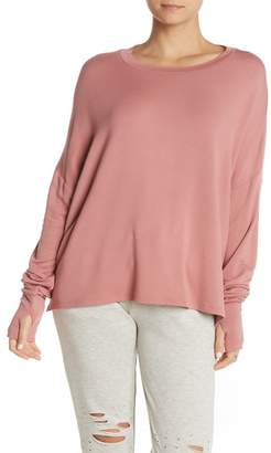 The Laundry Room Glovely Solid Thumbhole Pullover