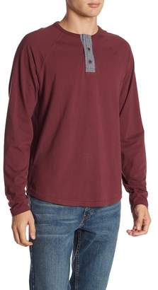 Lucky Brand Long Sleeve Solid Saturday Stretch Henley