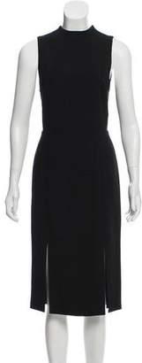 Alice + Olivia Mesh-Accented Midi Dress