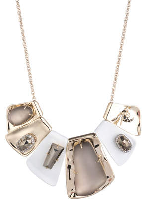 Alexis Bittar Large Articulate Matte White Bib Necklace