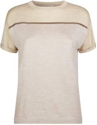 Brunello Cucinelli Lurex Detail Silk-Cashmere T-Shirt