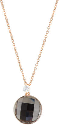 Roberto Coin 18k Rose Gold Crystal & Diamond Pendant Necklace