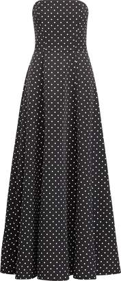 Ralph Lauren Polka-Dot Faille Gown