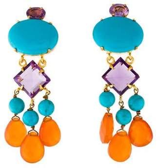 Bounkit Multistone Drop Earrings