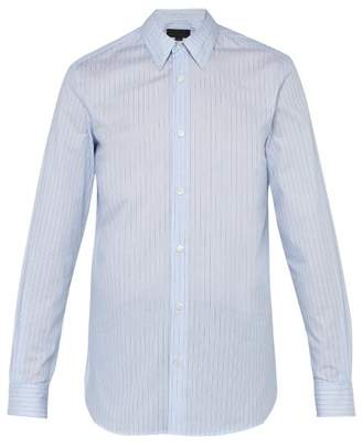 Stella McCartney Striped Cotton Shirt - Mens - Blue