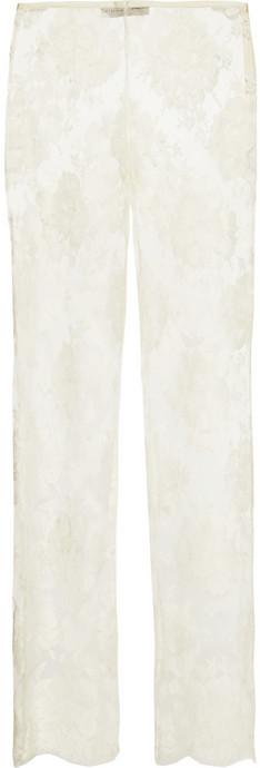 Stella McCartney Cotton-blend lace straight-leg pants