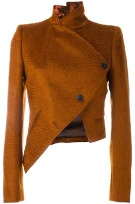 Ann Demeulemeester cropped asymmetric jacket