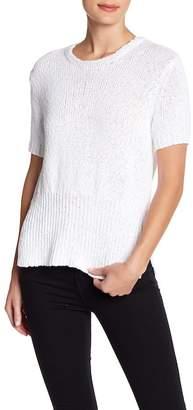 Inhabit Cotton Knit Hi-Lo Luxe Sweater