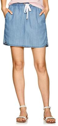 Lilla P WOMEN'S CHAMBRAY DRAWSTRING SKIRT