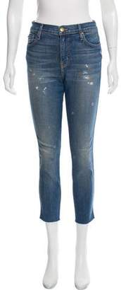 The Great Distressed Mid-Rise Jeans