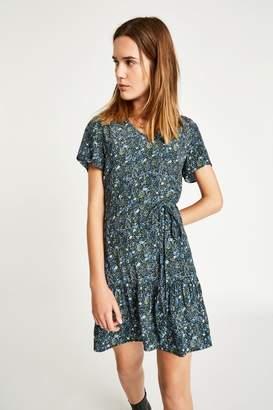 Jack Wills Dress- Launders Printed V Neck