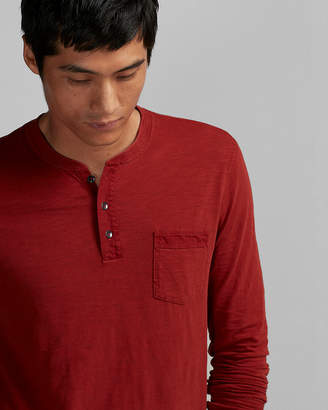 Express Garment Dyed Cotton Henley