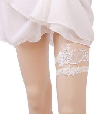 Keepsake MLQM Vintage Wedding Bridal Lace Garter Set Toss Tradition Set of 2