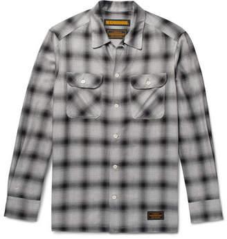 Neighborhood Camp-Collar Checked Twill Shirt