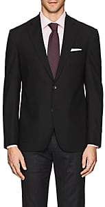 Barneys New York MEN'S BRAD WOOL HOPSACK TWO-BUTTON SPORTCOAT-BLACK SIZE 38