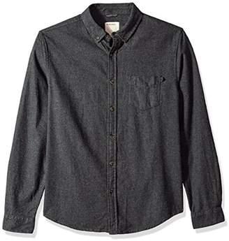 Life After Denim Men's Long Sleeve Slim Fit Greenpoint Solid Flannel Shirt