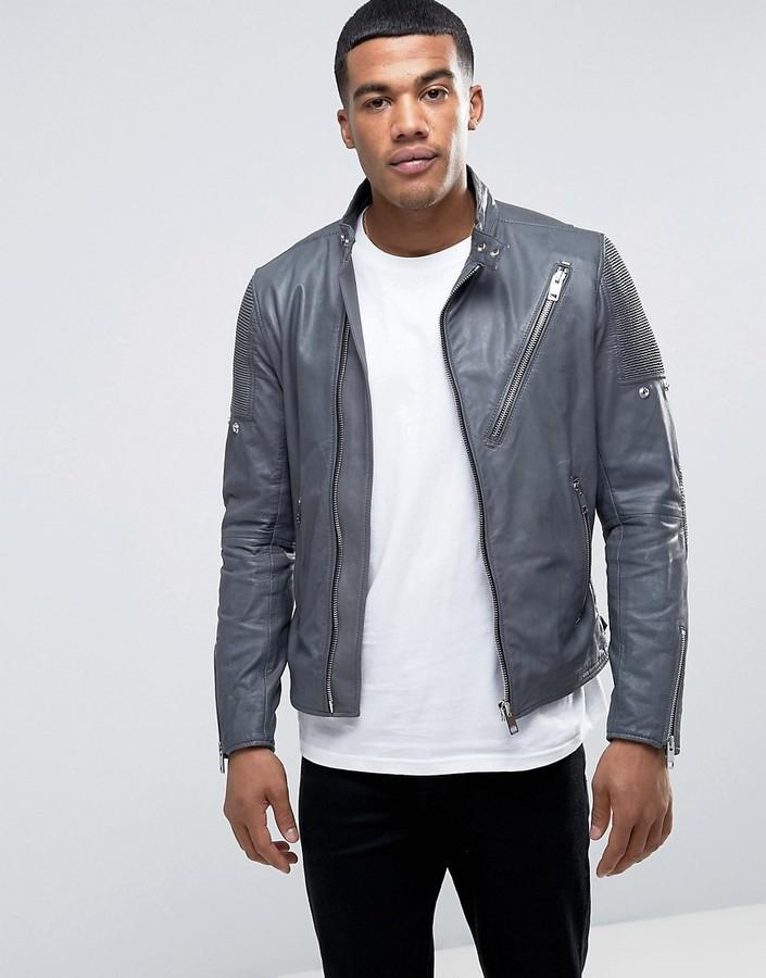 DieselDiesel L-MACKSON Vintage Leather Jacket
