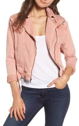Paige Sivan Denim Moto Jacket