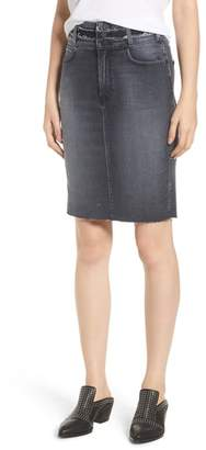 Hudson Helena High Waist Denim Pencil Skirt