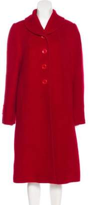 Armani Collezioni Wool & Mohair-Blend Long Coat