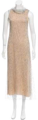 Calvin Klein Collection Metallic Sleeveless Dress