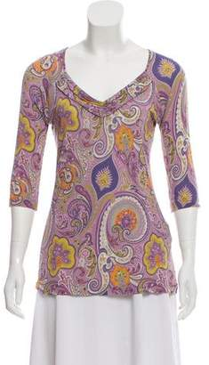 Etro Printed Three-Quarter Sleeve Top