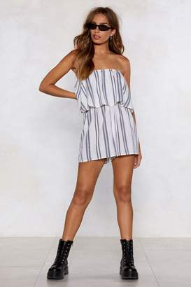 Nasty Gal Time for Plan Bandeau Striped Romper