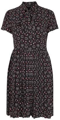 Emporio Armani Black Printed Crepe Dress