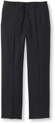 L.L. Bean L.L.Bean Washable Year-Round Wool Pants, Natural Fit Hidden Comfort Plain Front