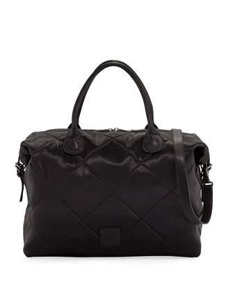 Neiman Marcus Quilted Satin Weekender Duffel Bag