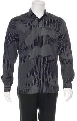 Neil Barrett Printed Button-Up Shirt w/ Tags