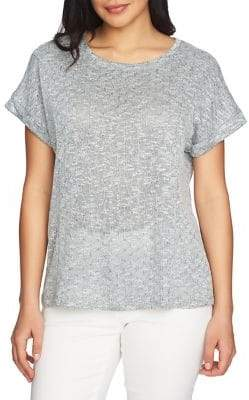 Chaus Marled Knit Short-Sleeve Top