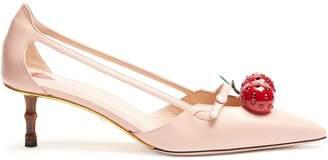 Gucci Unia crystal-cherry pumps
