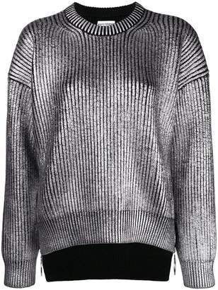 Paco Rabanne metallic long-sleeve sweater