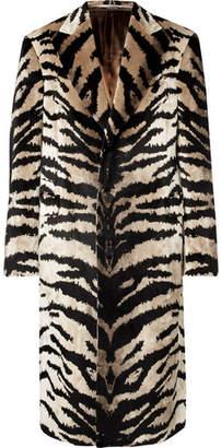 Alexander McQueen Slim-Fit Tiger-Jacquard Velvet Coat