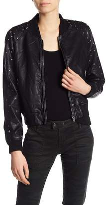 Blank NYC BLANKNYC Studded Faux Leather Bomber Jacket