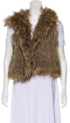 Yves Salomon Meteo x Hooded Fur Vest
