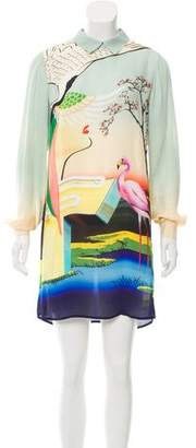 Mary Katrantzou Graphic Print Silk Dress