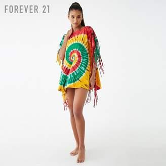 Forever 21 (フォーエバー 21) - Forever 21 タイダイフリンジスイムカバーアップワンピース