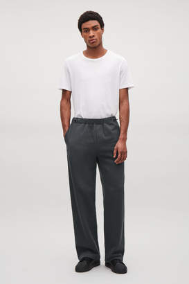 Cos JERSEY DRAWSTRING TROUSERS WITH TOGGLES